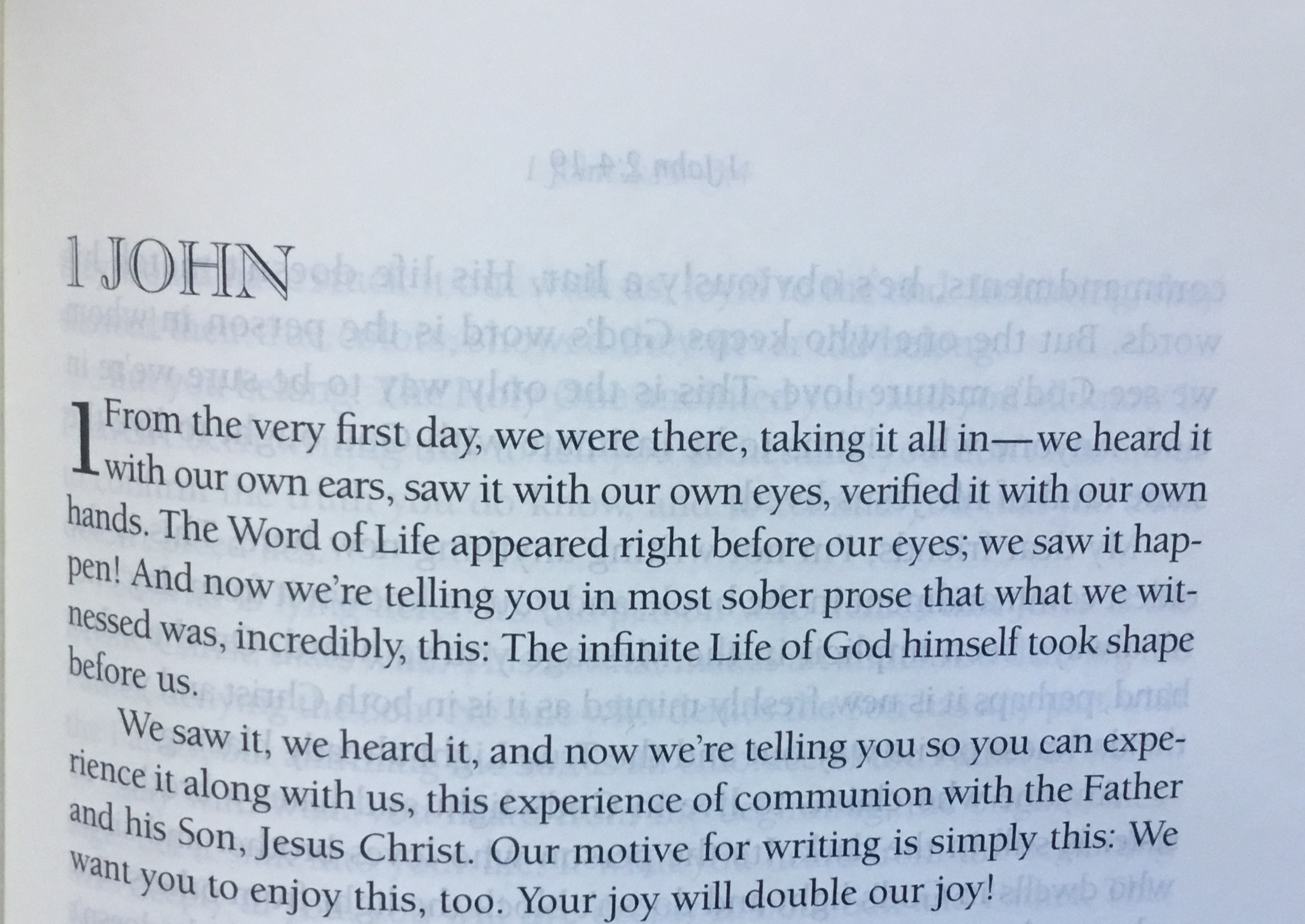 1 John 1 – Know Jesus and live accordingly – March 10th
