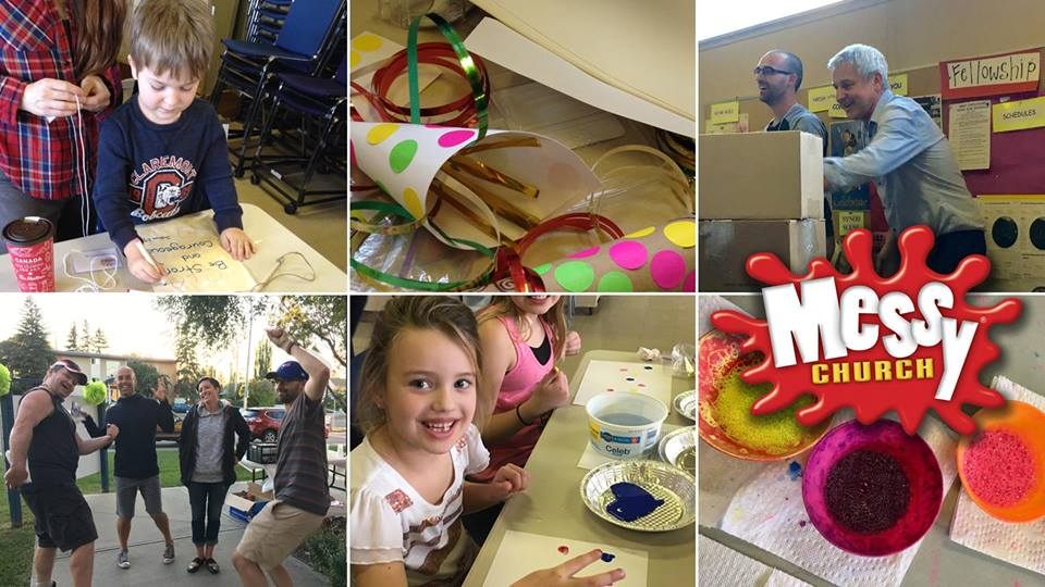 It's back! : ) It's Messy Church – Saturday 9th September at 4pm :  )