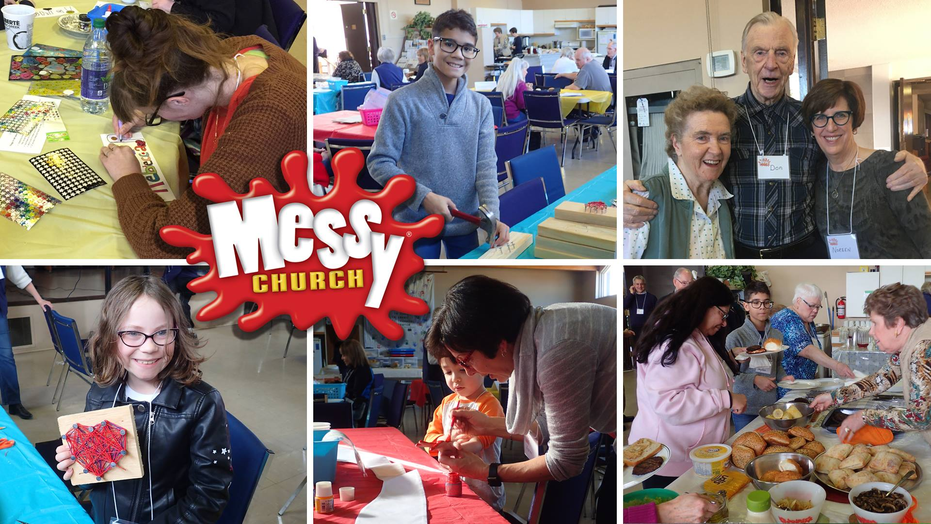 It's Messy Church! This Saturday at 4pm : )