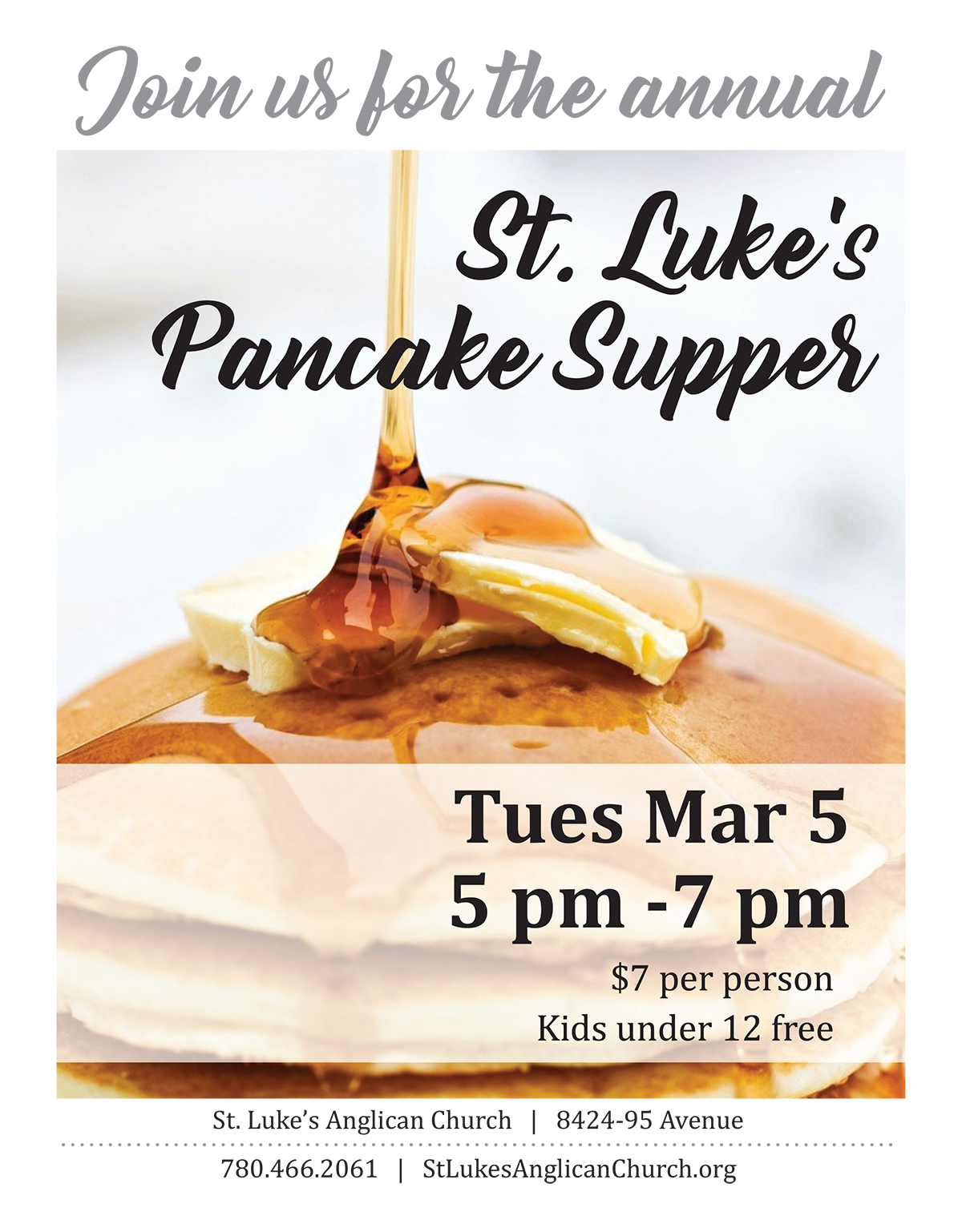 It's Pancake Supper time!!